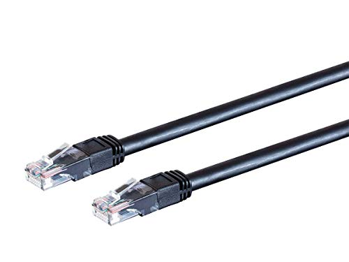Monoprice Cat6 Outdoor Rated Ethernet Patch Cable - 20 Feet - Black | Snagless RJ45, Stranded, 550MHz, UTP, Pure Bare Copper Wire, 24AWG