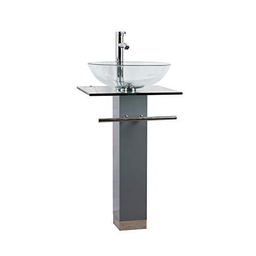 Goodyo Pedestal Sink Gyg10g 18 Inches Small Mdf Bathroom