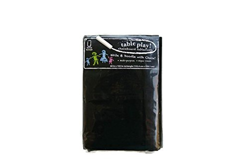 Table Play! Chalkboard Tablecloth - 60 x 102 Inch Rectangle