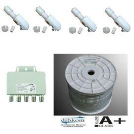 Venton Cable Coaxial 130 dB a + 100 m + 4 x Venton Rocket ...