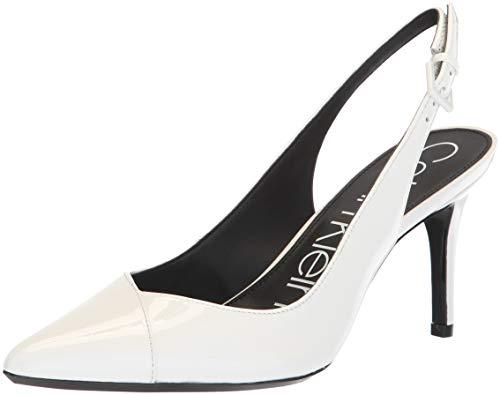 (Calvin Klein Women's Gwenith Pump, Platinum White, 10 Medium US)