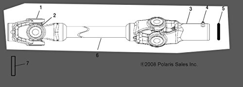 Polaris 2008-2013 Sportsman TOURING 500 FRONT SPT X2 PROPSHAFT 1332617 New OEM by Polaris