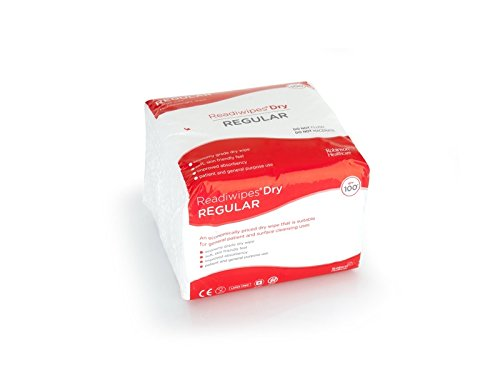 Readiwipes Dry - Regular, Large Size, Lightweight Wipe (Pack of 100) Robinson Healthcare 5049
