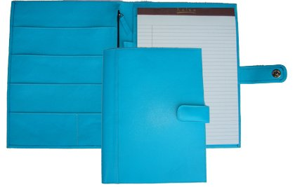 Raika RO 220 BLUE 9.5in. x 12.5in. Soft Constructed Writing Pad - Blue by Raika