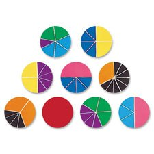 Rainbow Fraction Deluxe Circle Set, Multi-Color, Sold as 1 Set, 9 Each per Set