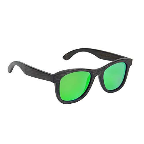 negro madera naranja diseño a con sol de un UV rayos de Gafas color protección única talla de Crefreak 100 de con clásico los y verde bambú con Ynport hombre estructura x7YTFq1ww