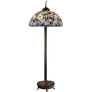 Bieye L10673 28 Inches Magnolia Tiffany Style Floor Lamp