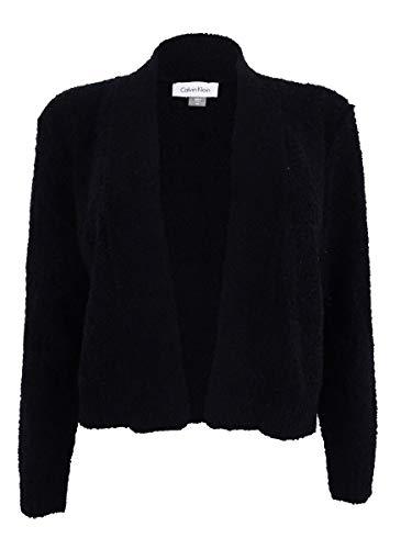 - Calvin Klein Women's Boucle-Knit Shrug (S, Black)