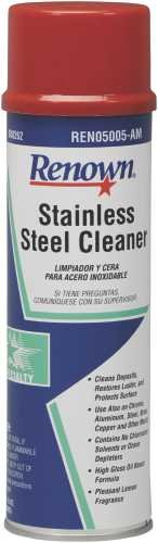 Renown REN05006-AM Stainless Steel Cleaner Oil Based Aerosol, 15 Ounce