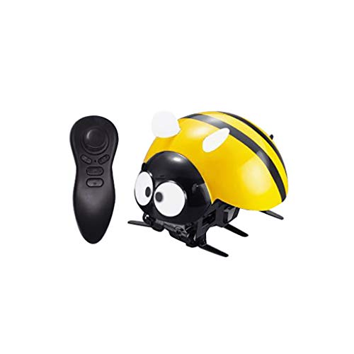 ❤️MChoice❤️Ladybug Electronic RC Toys DIY Intelligent 2.4GHz Wireless Remote Control Robot (Yellow) -