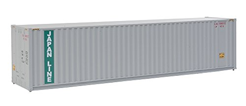 (Walthers Trainline 40' Hi-Cube Corrugated Container w/Flat Roof Japan Lines - Assembled Train Collectable Train)