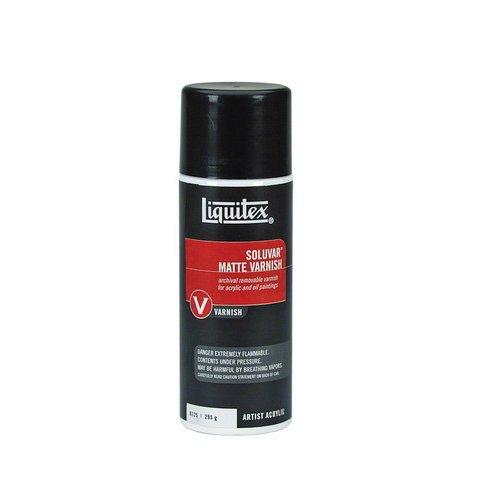 Varnish Aerosol - Liquitex Professional Soluvar Matte Varnish, Aerosol Spray 10.4-oz