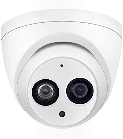 4MP Dome IP Security Eyeball Camera PoE, IPC-HDW4433C-A 2.8mm Lens,IR 165ft Night Vision,H.265,IP67 Weatherproof Network Outdoor Home CCTV Surveillance System
