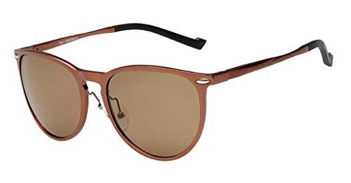 Eyekepper Vintage aluminium lunettes de soleil polarisateur Marron