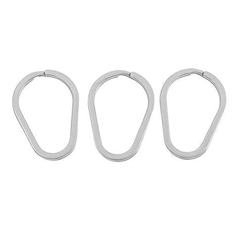Amazon.com: Llaveros de acero inoxidable con anillos ...