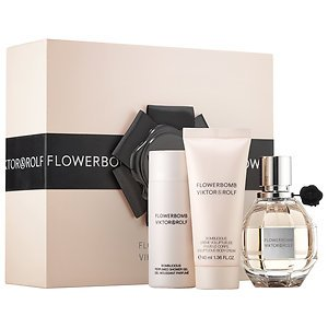 Viktor & Rolf Flowerbomb Gift Set: Eau De Parfum, Shower Gel, Body Cream Flowerbomb Gift Set
