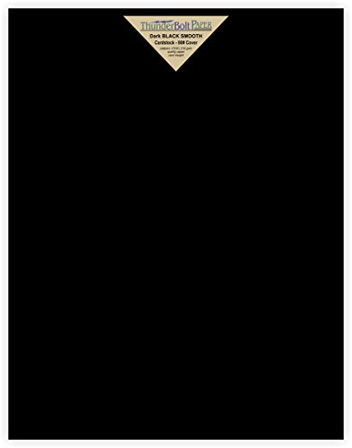 35 Dark Black Smooth Card/Cover Sheets - 11