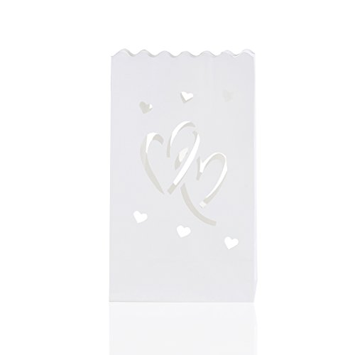 Tinksky Twin Heart Luminary Tealight Decoration