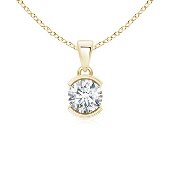 Angara Semi Bezel-Set Two Stone Diamond Pendant 1jquN