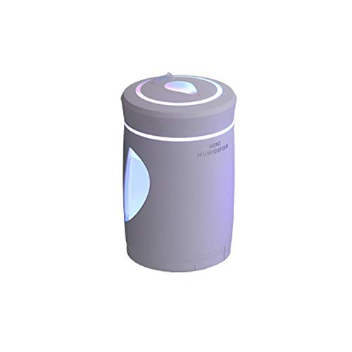 (Alimao USB Humidifier Mini Night Light LED Humidifier Air Diffuser Purifier Atomizer WH White)