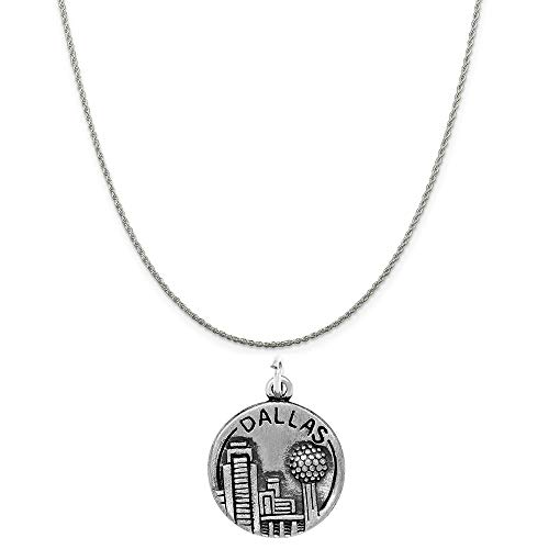 Raposa Elegance Sterling Silver Dallas Charm on a Sterling Silver 20