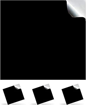 Glossy Black Sheets 10 x Easy to Weed and Works with Cricut and All Cutters TeekayBrankds Permanent Self Adhesive Backed Vinyl Sheets -12 x 12 inch