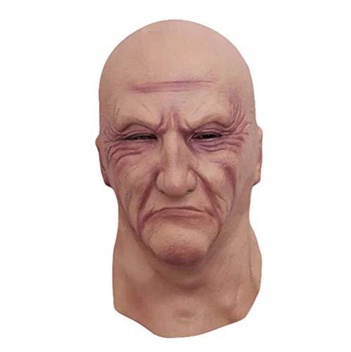 JIANGJIE Halloween Creepy Old Man Mask Celebrity Latex Parties Cosplay Costume Parties -