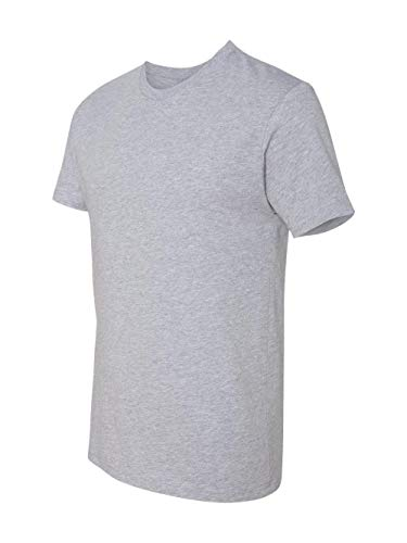 Next Level Mens Premium Fitted Short-Sleeve Crew (3600) - Heather Gray 3600 XS