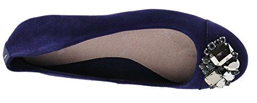 blau Cortefiel Leder Ballerinas Marineblau 6914144 8wCXUxqHC