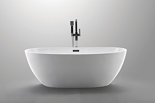 Luxury 67x34 Modern Contemporary Freestanding Acrylic Soaking Spa Bathtub - cUPC Certified by American Tubs (Image #2)
