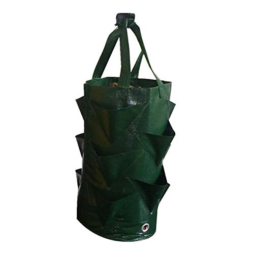 AloPW Yard Waste Bags Strawberry Planting Bag Garden Leaf air Plant Planting Bag Environmental Protection Breathable Home Gardening Accessory