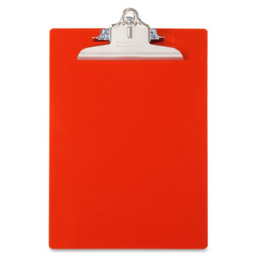 Saunders Recycled Plastic Clipboard, Letter Size 8.5 x 12 Inches, Red (21601)