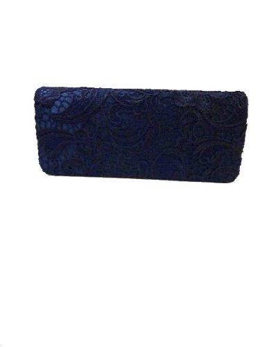 e4433e7b6d27d DESIGNER Navy Blue Lace detail Clutch Bag Stylish Celeb SUMMER HOLIDAY  LADIES HANDBAG Wedding  Amazon.co.uk  Shoes   Bags