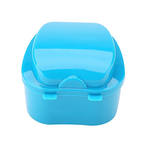 Denture Case Denture Box with Specially Strainer Denture Bath Cup Retainer Cleaning Storage for Travel Dental Care
