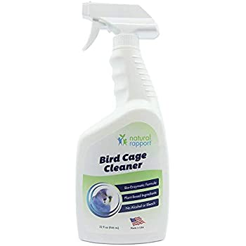 Natural Rapport Bird Cage Cleaner Poop Remover Spray Naturally, Safely, and Conveniently Removes Parakeet, Parrot, and Other Bird Waste by Dissolving it ...