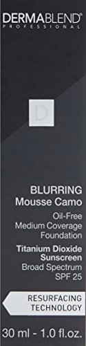 Dermablend Blurring Mousse Medium To Full Coverage Foundation Makeup With Spf 25, Oil-free, 12 Shades, 30c Cameo, 1 Fl. Oz.