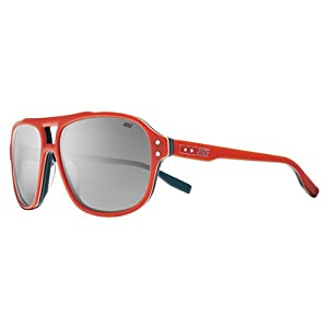 Nike MDL. 220 Sunglasses, Team Orange/Atomic Teal, Grey with Silver Flash Lens