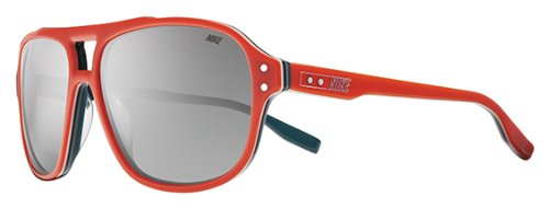 Nike MDL. 220 Sunglasses, Team Orange/Atomic Teal, Grey with Silver Flash (220 Sunglasses)