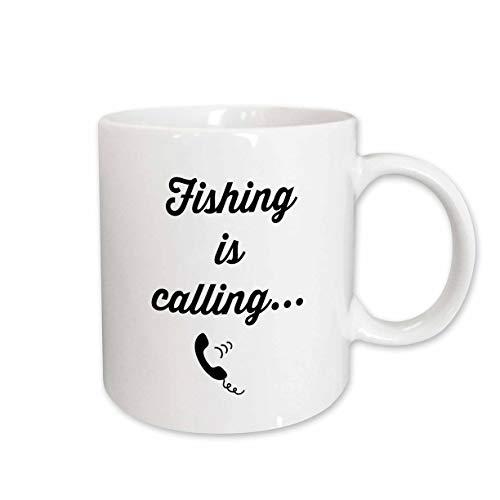 (3dRose 3DRose Gabriella-Quote - Image of Fishing Is Calling Quote - 11oz Magic Transforming Mug (mug_316916_3) )