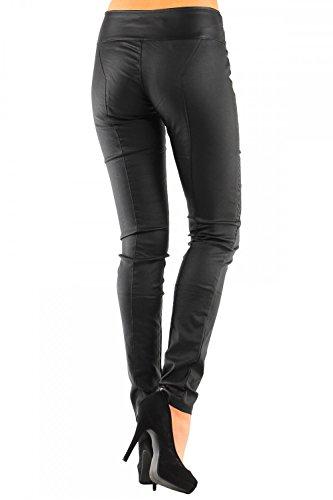 Skinny Pantaloni Similpelle In Nero Da Donna tubo 245 No Paqvpxq