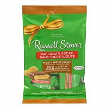Sugar Free Chocolate Peanuts - Russell Stover 2 BAGS Sugar Free Peanut Butter Crunch (Original Version)