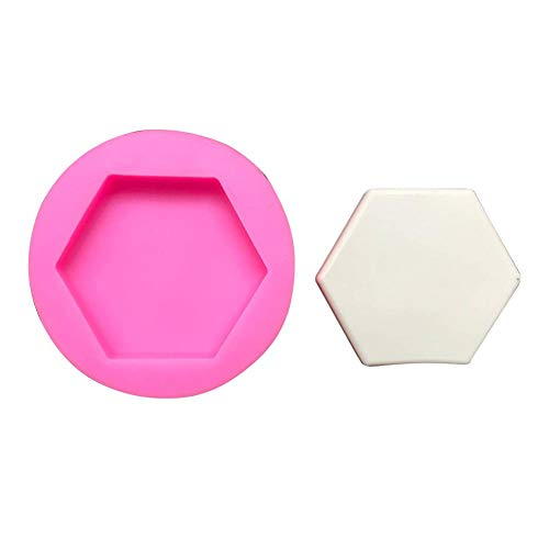 Silicone Concrete Mold New DIY Stone Plaster Mold Car Decoration Hexagonal Fruit Plates Concrete Dish Aroma Stone Silicone Mold