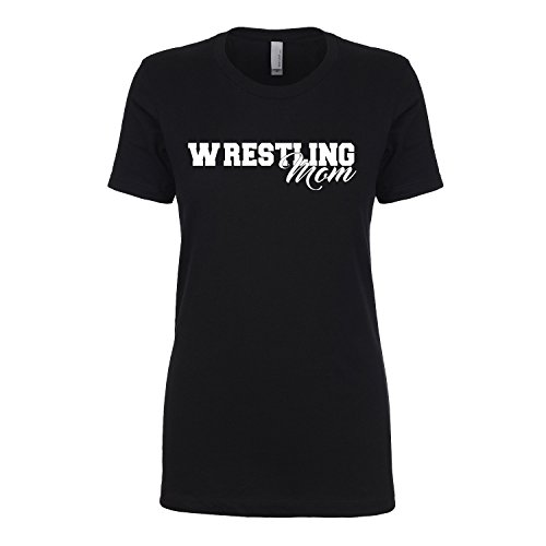 Wrestling Mom Womens crewneck tee in black - X-Large by ZeroGravitee