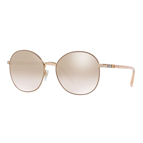 Burberry BE3094 12587I Gold BE3094 Round Sunglasses Lens Category 1 Size - Burberry Sunglasses Round