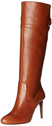 Lauren Ralph Lauren Women's Halina Boot, Polo Tan/Polo Tan Burnished Vachetta, 5.5 B US
