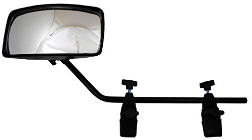 attwood 13066-7 Universal Adjustable Clamp-On Water Ski Rear View Boat Mirror, One Size, Beige/Black