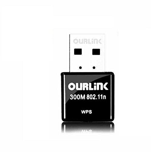 OURLINK 300mbps Mini USB Adapter, Mini-Sized Design 802.11n/g/b Mini Portable USB 2.0 USB Wifi Dongle & Wireless Network Adapter for Laptop / Desktop Computer LAN Card