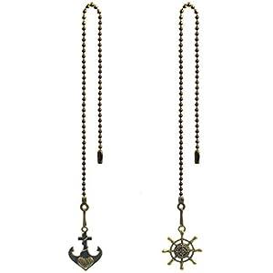 31tBxWDz9BL._SS300_ 75+ Coastal & Beach Ceiling Fan Pull Chain Ornaments For 2020