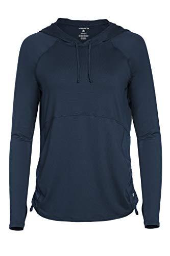 Layer 8 Women's Cold Gear Fleece Top with Hood (Medium Carribean Blue)