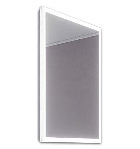 DIAMOND X COLLECTION Leanna Slimline Edge LED Bathroom Mirror with Demister Pad -